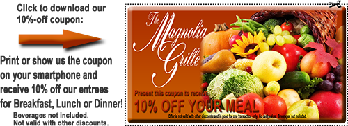 Receive 10% Off at The Magnolia Grille